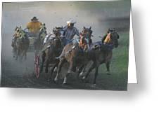 Chuckwagon Racing Greeting Card