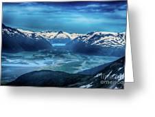 Chugach Mountain Range Greeting Card