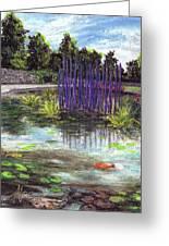 Chuhuly Installation At Biltmore Water Gardens Greeting Card