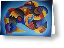 Chujllas Mayu Apu Greeting Card by Fernando  Ocampo Sandy