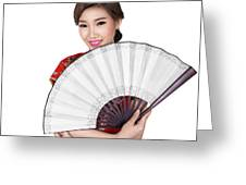 Chunese Lady In Chinese Dress Greeting Card
