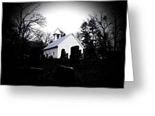 Church And Cemetary- Lens Greeting Card