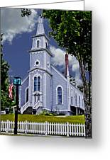 Church And Flag Greeting Card
