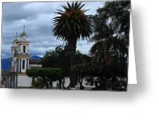 Church And Park Greeting Card