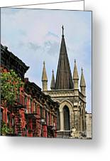 Church Architecture Older Nyc  Greeting Card