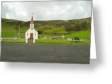 Church At Vik I Myrdal Iceland Greeting Card