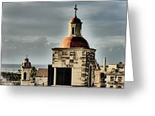 Church Bell Tower, Old Havana Greeting Card