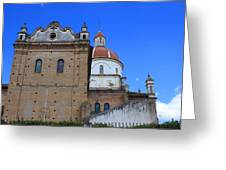 Church Building In Cotacachi Greeting Card