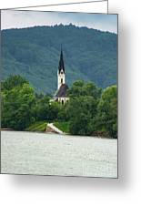 Church By The Danube Greeting Card