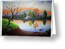Church By The Lake Greeting Card