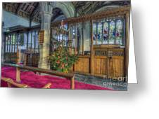 Church Christmas Tree Greeting Card