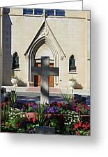 Church Entrance Cross Greeting Card