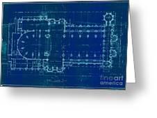 Church Floor Plan Greeting Card