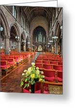 Church Flowers Greeting Card