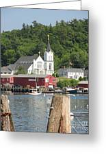 Church In Boothbay Greeting Card