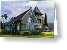 Church In Hanalei Kauai  Greeting Card