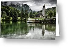 Church In Julian Alps Slovenia Greeting Card