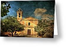 Church In Peillon Greeting Card