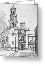 Church In Queretaro, Mx Greeting Card