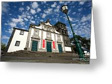 Church In Ribeira Grande Greeting Card