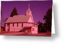 Church In Spirit Lake Idaho  Greeting Card