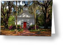 Church In Spring Greeting Card