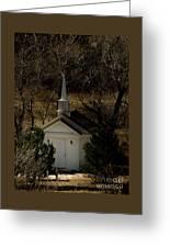 Church In The Garden Greeting Card