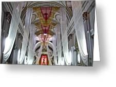 Church Interior 1 Guatemala  Greeting Card