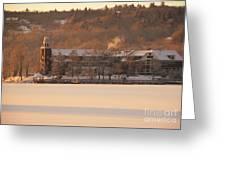 Church Landing In January Greeting Card