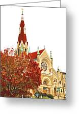 Church Next Door Greeting Card