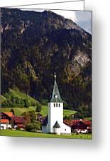Church Of Bad Oberdorf  Greeting Card