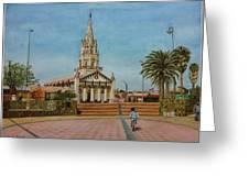Church Of Caldera Greeting Card