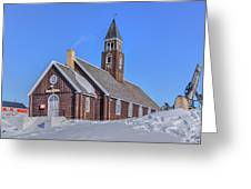 church of Ilulissat - Greenland Greeting Card