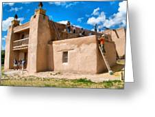 Church Of San Jose De Gracia In Las Trampas New Mexico Greeting Card