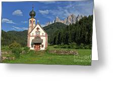 Church Of St. Johann In Ranui Greeting Card