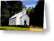 Church Of The Baptist Greeting Card