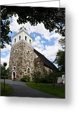 Church Of The Holy Cross At Rauma Greeting Card
