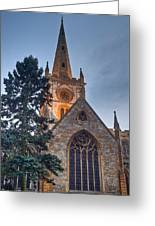 Church Of The Holy Trinity Stratford Upon Avon 4 Greeting Card