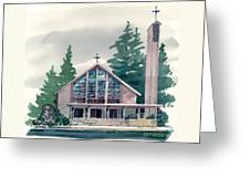 Church Of The Immaculate Heart Of Mary Greeting Card