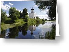 Church Of The Intercession On The Nerl Greeting Card
