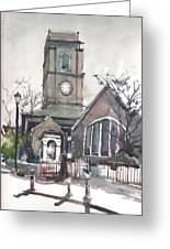 Church On Chelsea Embankment Greeting Card