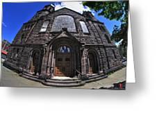 Church On Main St  Greeting Card