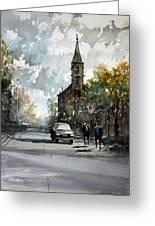 Church On The Hill Greeting Card by Ryan Radke