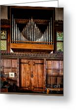 Church Organ Greeting Card