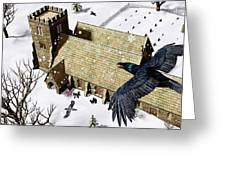 Church Ravens Greeting Card