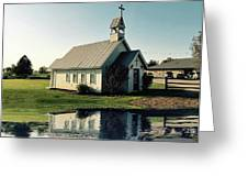 Church Reflection Greeting Card