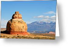 Church Rock Utah Greeting Card