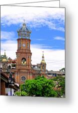 Church Steeples In Puerto Vallarta Greeting Card