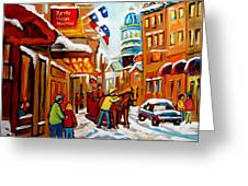 Church Street In Winter Greeting Card