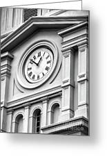 Church Time - St Louis Cathedral - New Orleans Greeting Card